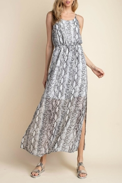 Mittoshop Snake-Print Side-Slit Maxi - Product List Image