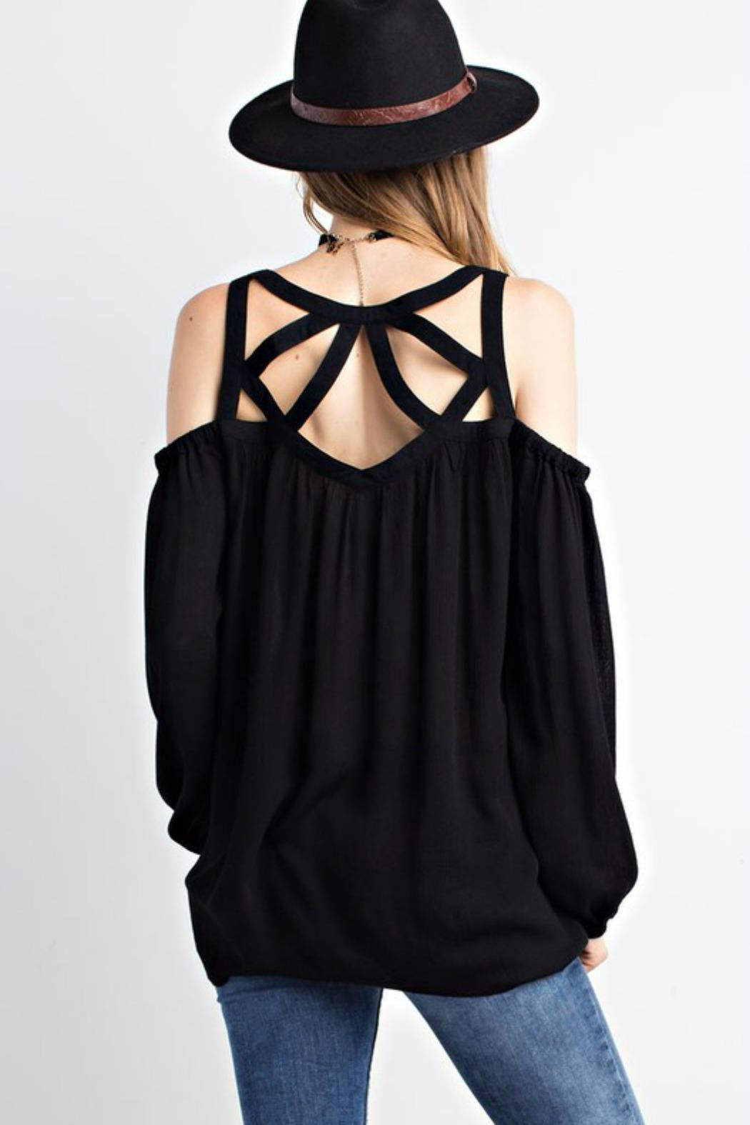 mittoshop black strappy top from connecticut by deja vu
