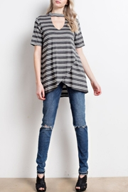 Mittoshop Striped Cutout Top - Product Mini Image