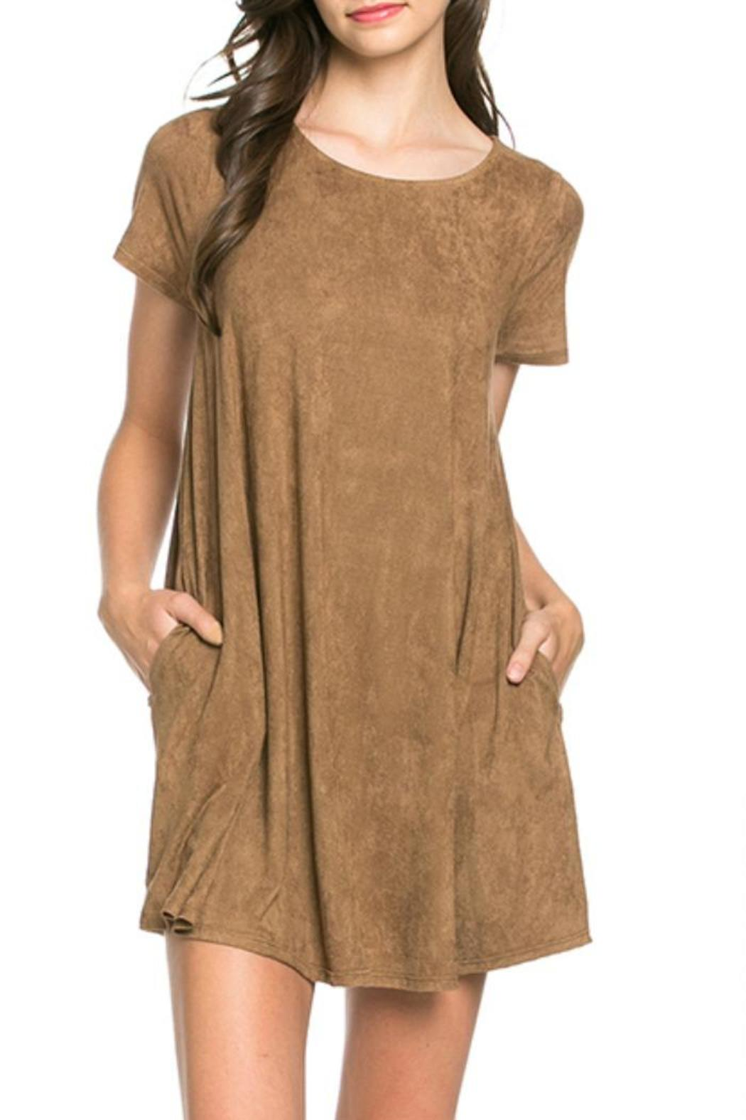 mittoshop suede pocket dress from tampa by the trunk stylist