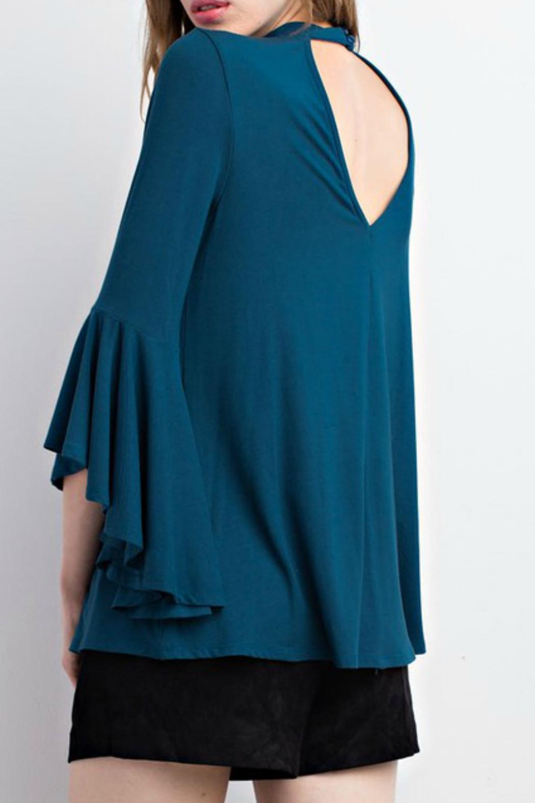 Mittoshop Teal Choker Blouse - Front Full Image