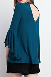 Mittoshop Teal Choker Blouse - Front full body