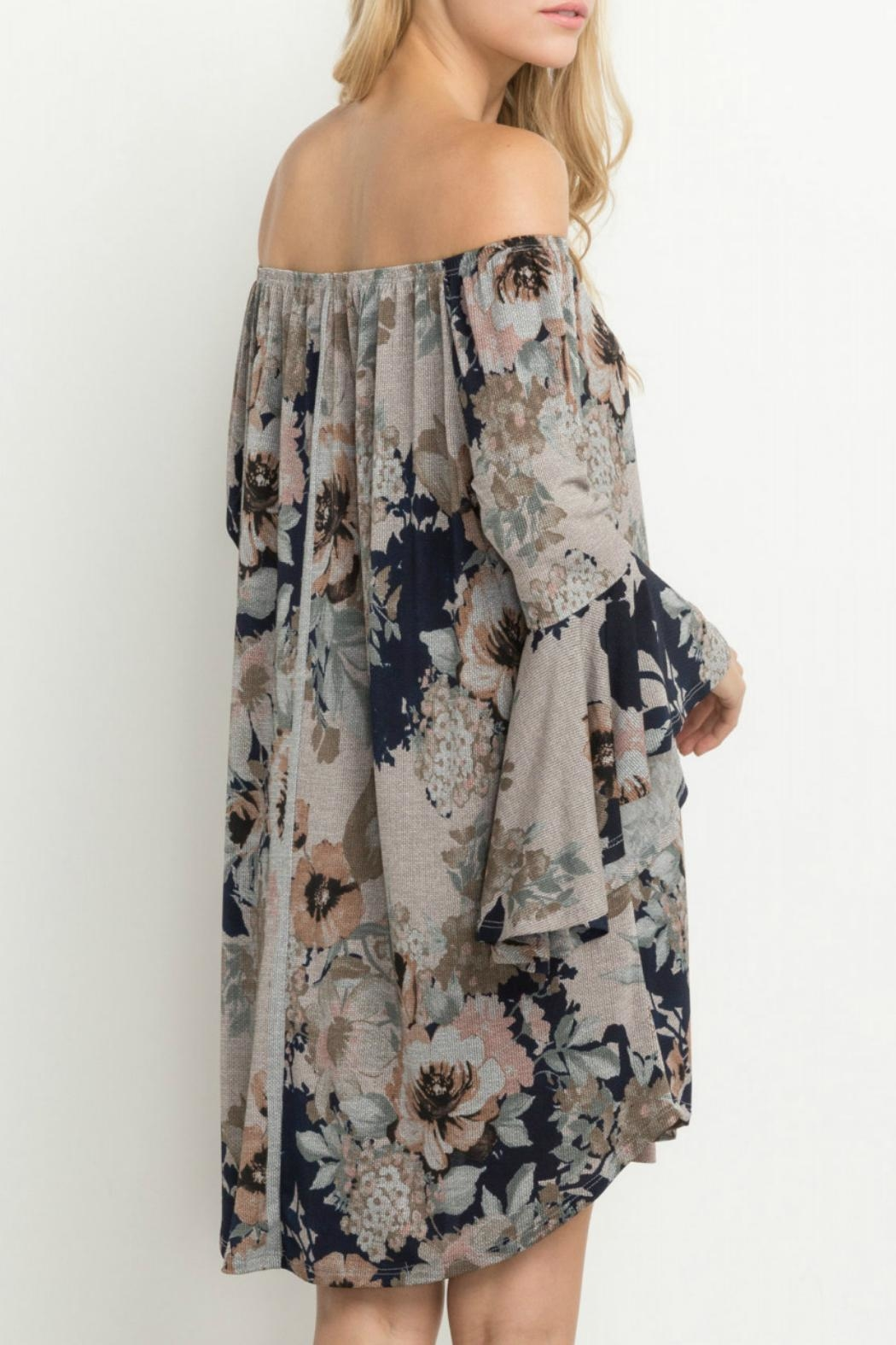 Mittoshop Together Floral Dress - Back Cropped Image