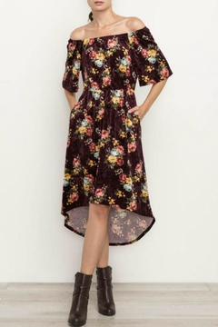 Shoptiques Product: Velvet Floral Dress