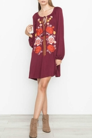 Mittoshop Wine Floral Dress - Product Mini Image