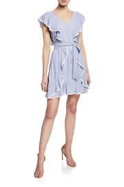 Cupcakes & Cashmere Mitzi Striped-Ruffle Dress - Front cropped