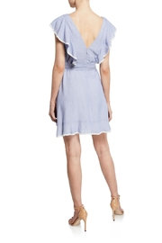 Cupcakes & Cashmere Mitzi Striped-Ruffle Dress - Front full body