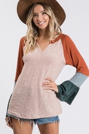 Ces Femme Mix And Match Raglan Top - Product Mini Image