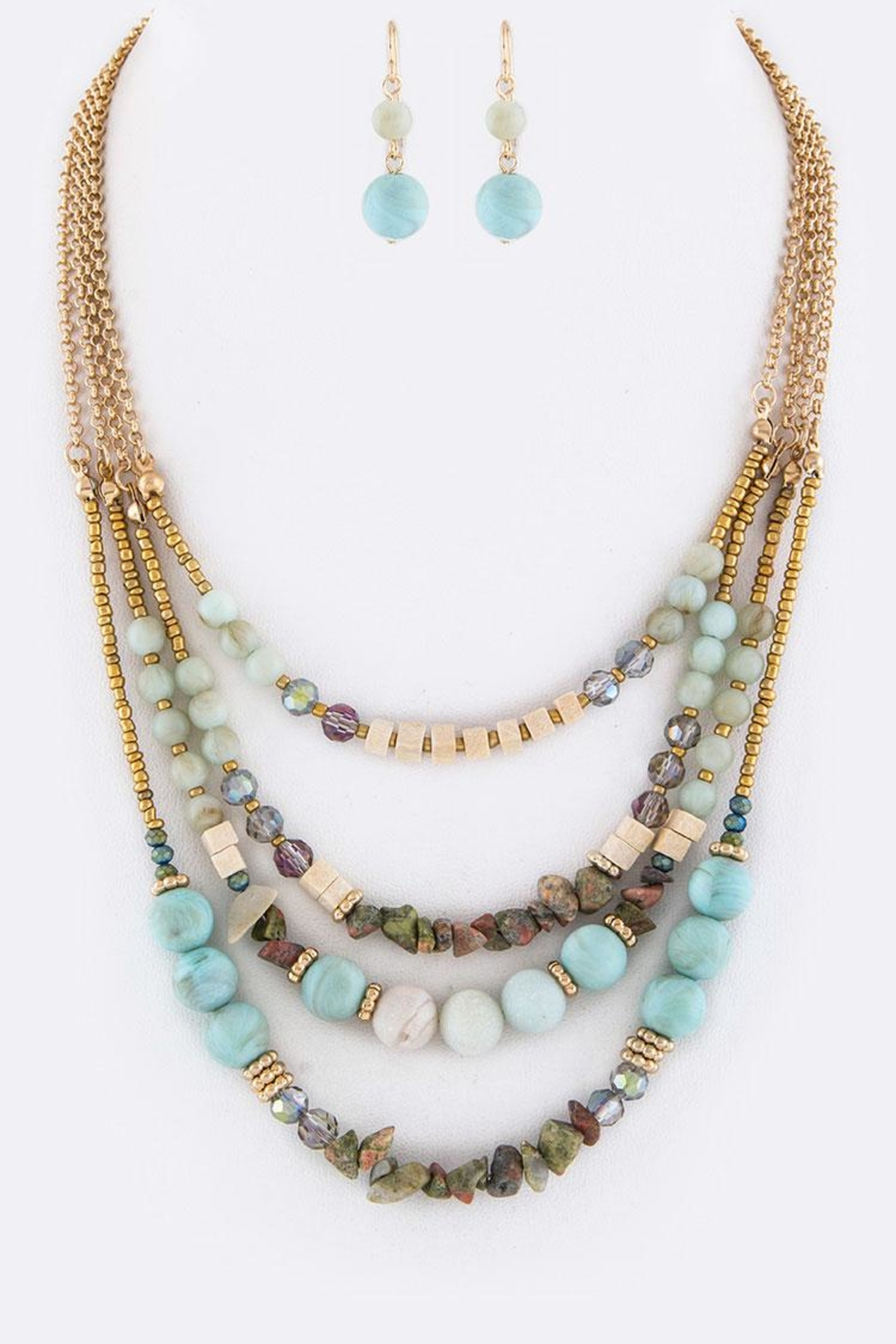 Nadya's Closet Mix Beads Necklace - Main Image