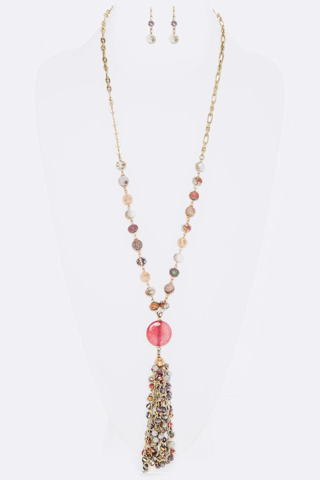 Nadya's Closet Mix Beads Necklace-Set - Front Cropped Image