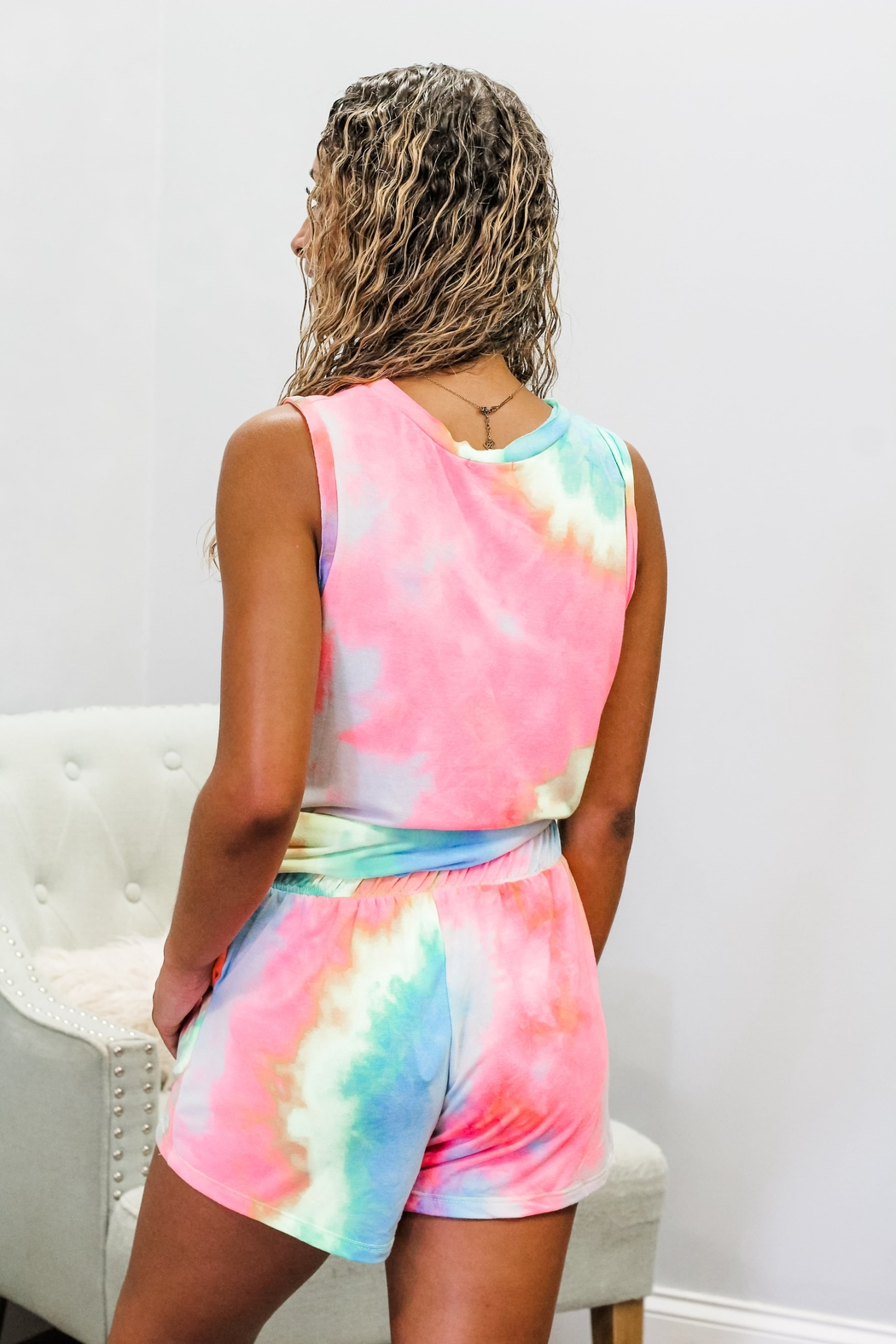 White Birch Mix It Up Tie Dye Set - Front Full Image