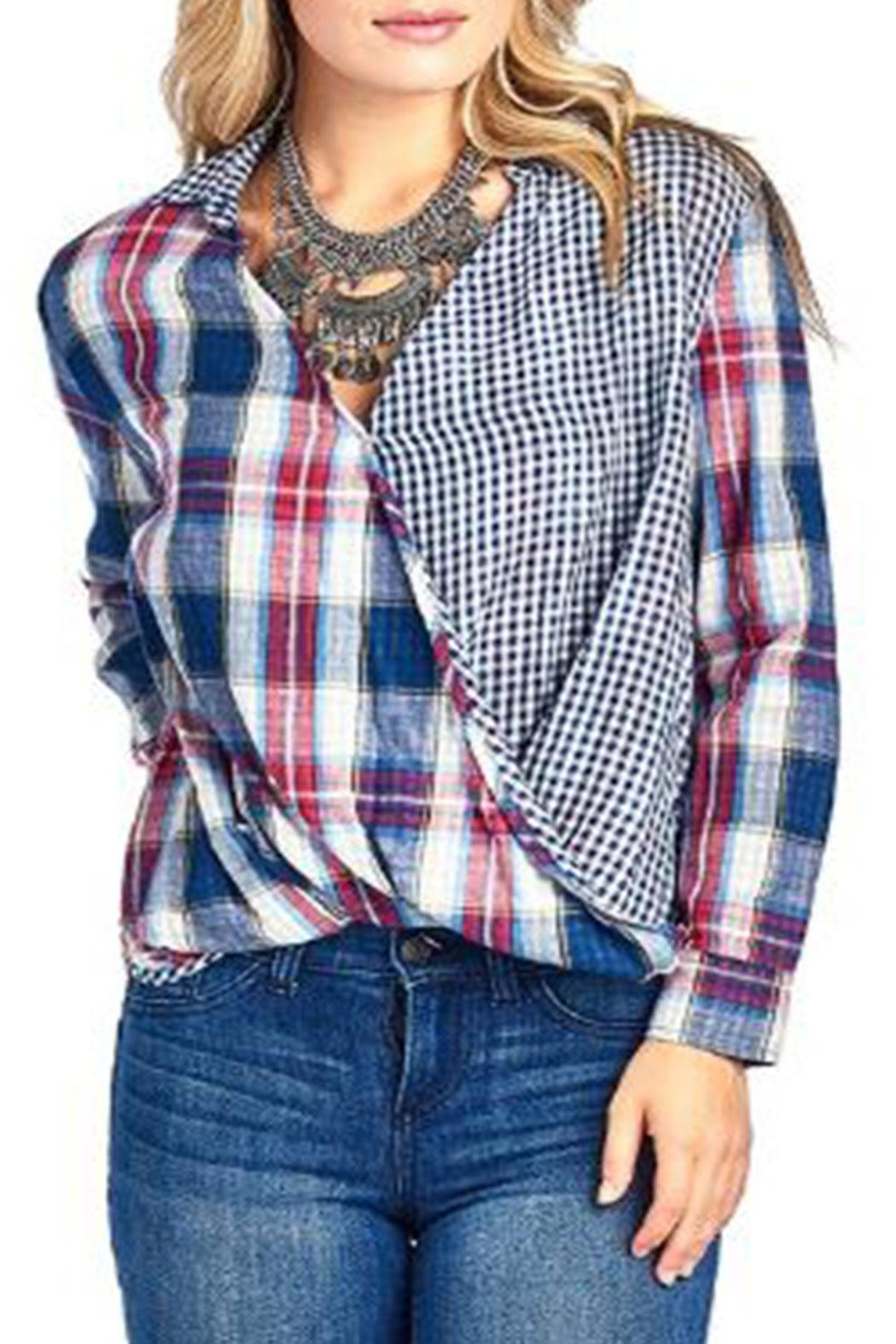 BD Collection Mix Plaid Shirt - Front Cropped Image