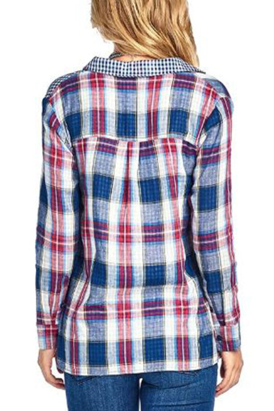 BD Collection Mix Plaid Shirt - Front Full Image