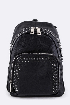 Shoptiques Product: Mix Studs Leather-Backpack