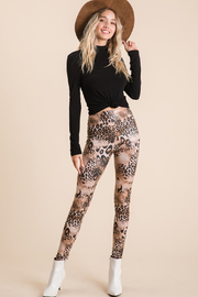 Ces Femme  Mixed Animal Print Legging - Product Mini Image