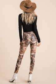 Ces Femme  Mixed Animal Print Legging - Side cropped