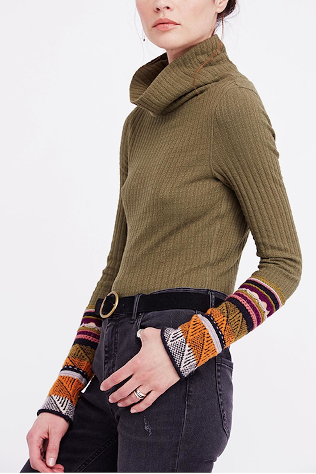 Free People Mixed Cuff Knit - Front Full Image