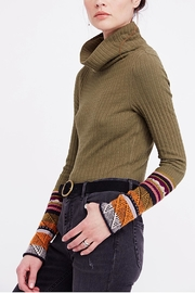 Free People Mixed Cuff Knit - Front full body
