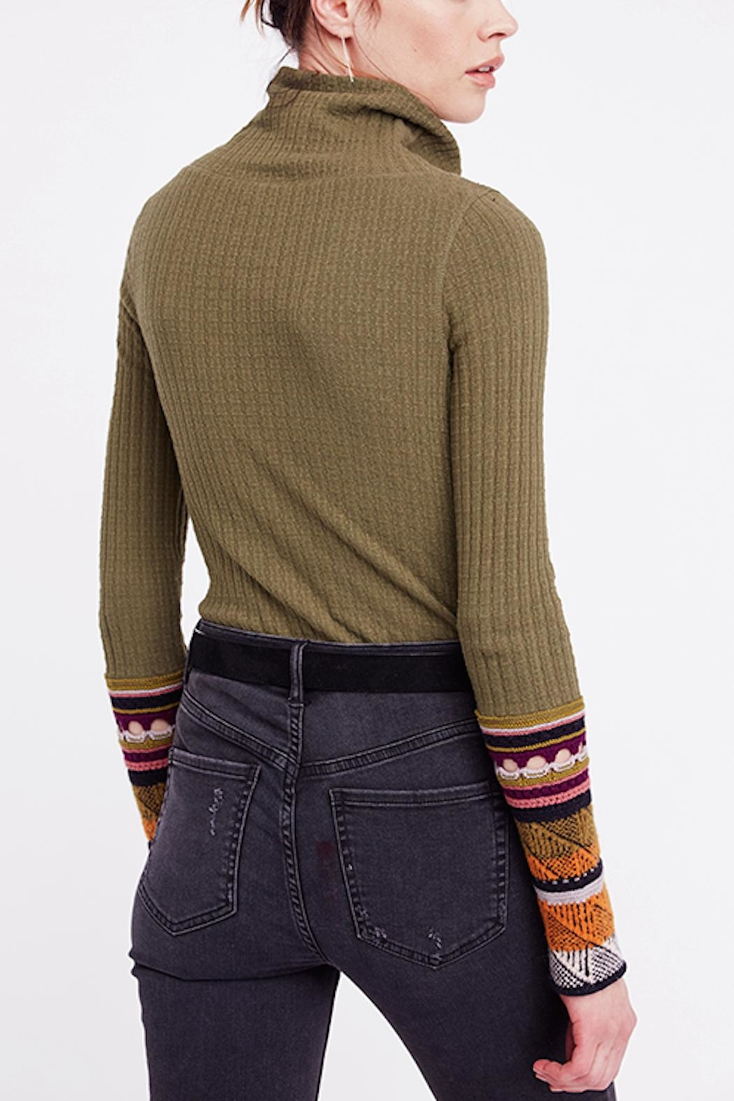 Free People Mixed Cuff Knit - Side Cropped Image