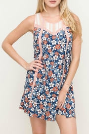 Hem & Thread Mixed Floral Dress - Product Mini Image