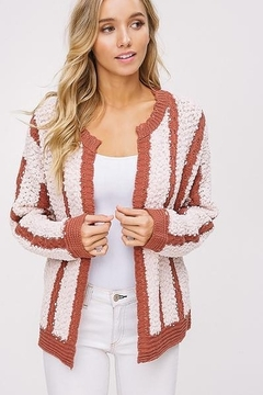 Listicle Mixed Knit Open Cardigan - Alternate List Image