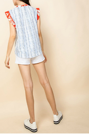 Thml Mixed Media Top - Front full body