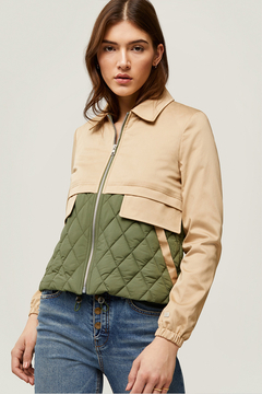 Soia & Kyo Mixed Media Water-Repellent Jacket - Product List Image
