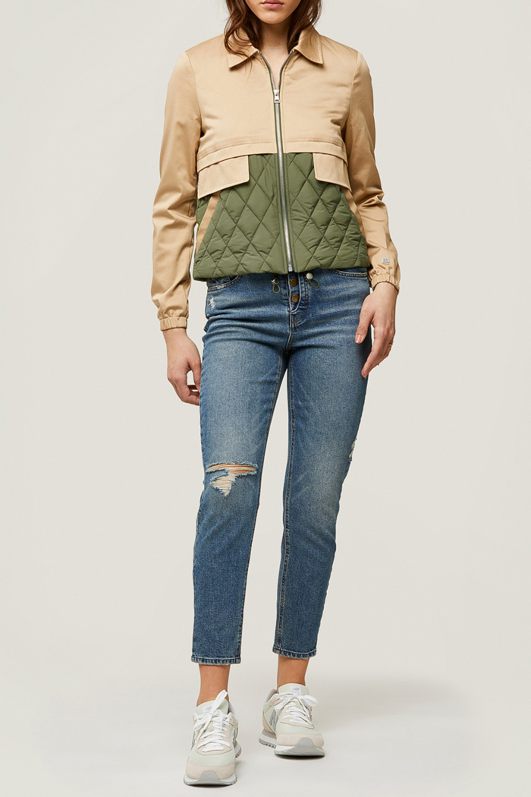 Soia & Kyo Mixed Media Water-Repellent Jacket - Side Cropped Image