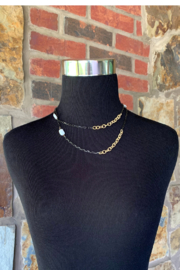 LuLuLisa Mixed Metal and Pearl Chain - Side cropped