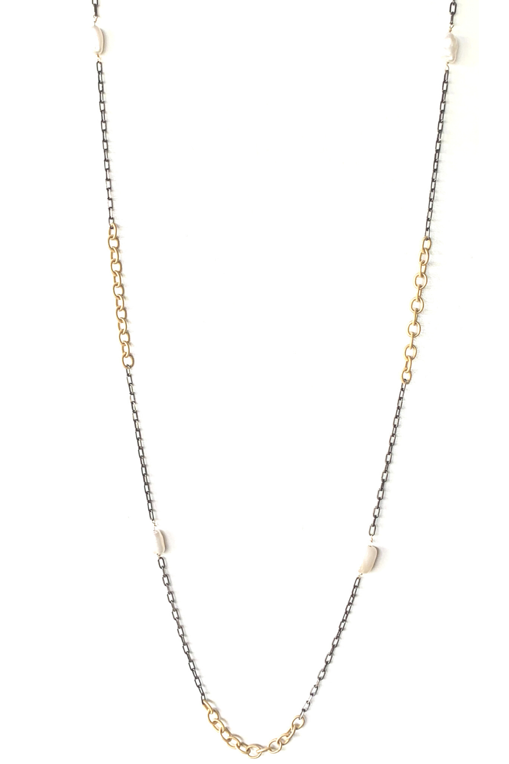 LuLuLisa Mixed Metal and Pearl Chain - Main Image