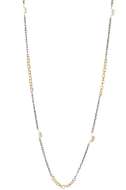LuLuLisa Mixed Metal and Pearl Chain - Front cropped