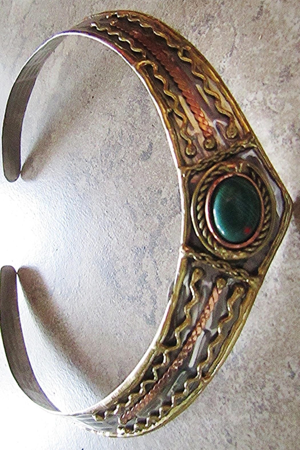 Anju Handcrafted Artisan Jewelry MIXED METAL CHOKER - Front Full Image