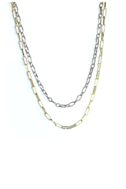 Nicole Lipton Jewelry Mixed Metal Double Layer Chain Necklace - Product Mini Image