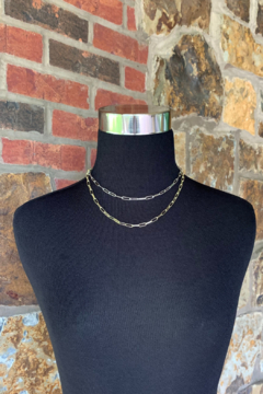 Nicole Lipton Jewelry Mixed Metal Double Layer Chain Necklace - Alternate List Image