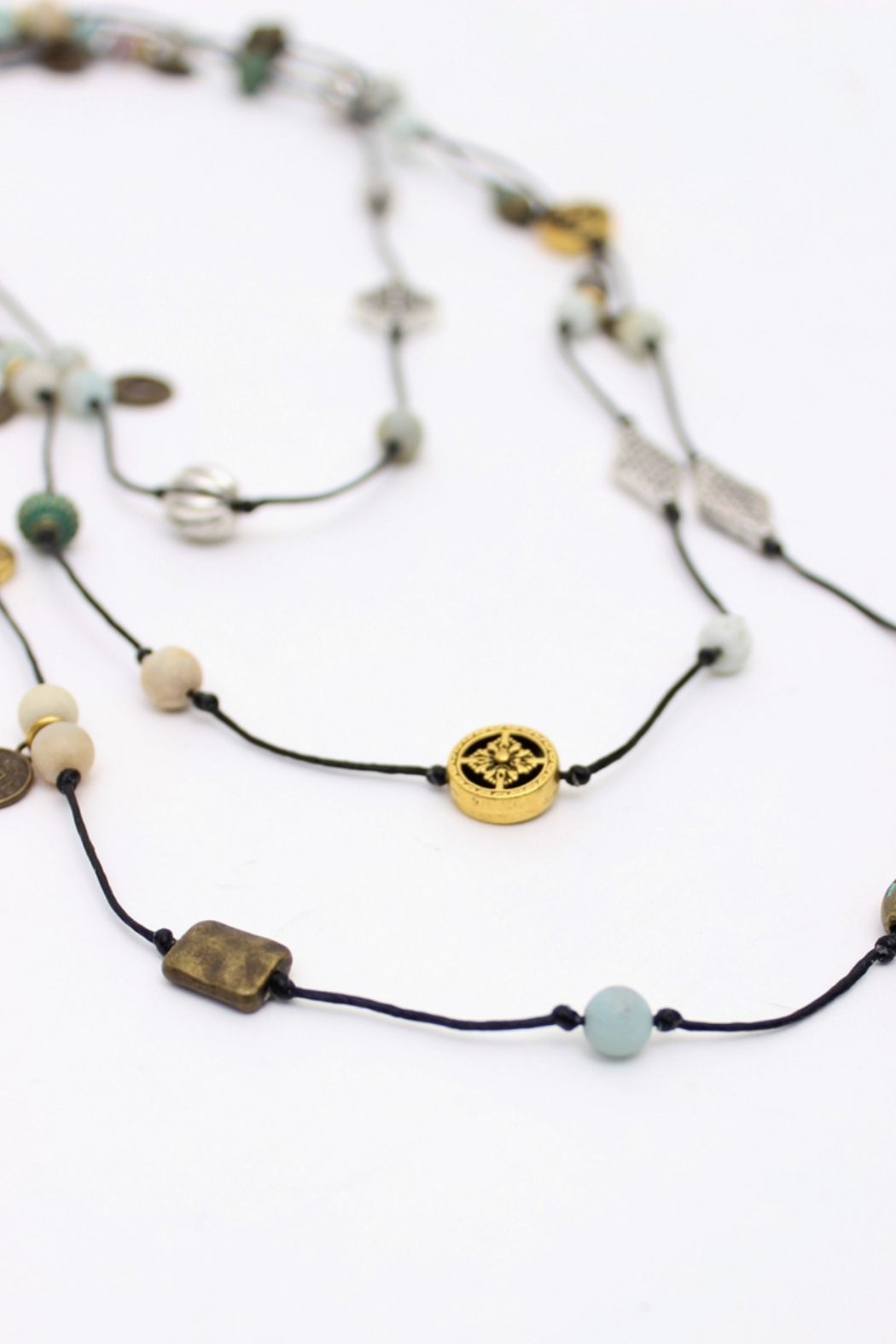 Bali Queen Mixed Metal Layering Necklace - Main Image