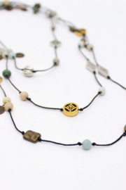Bali Queen Mixed Metal Layering Necklace - Front cropped