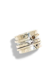 Two's Company Mixed Metal Rotating Ring w Stone - Product Mini Image