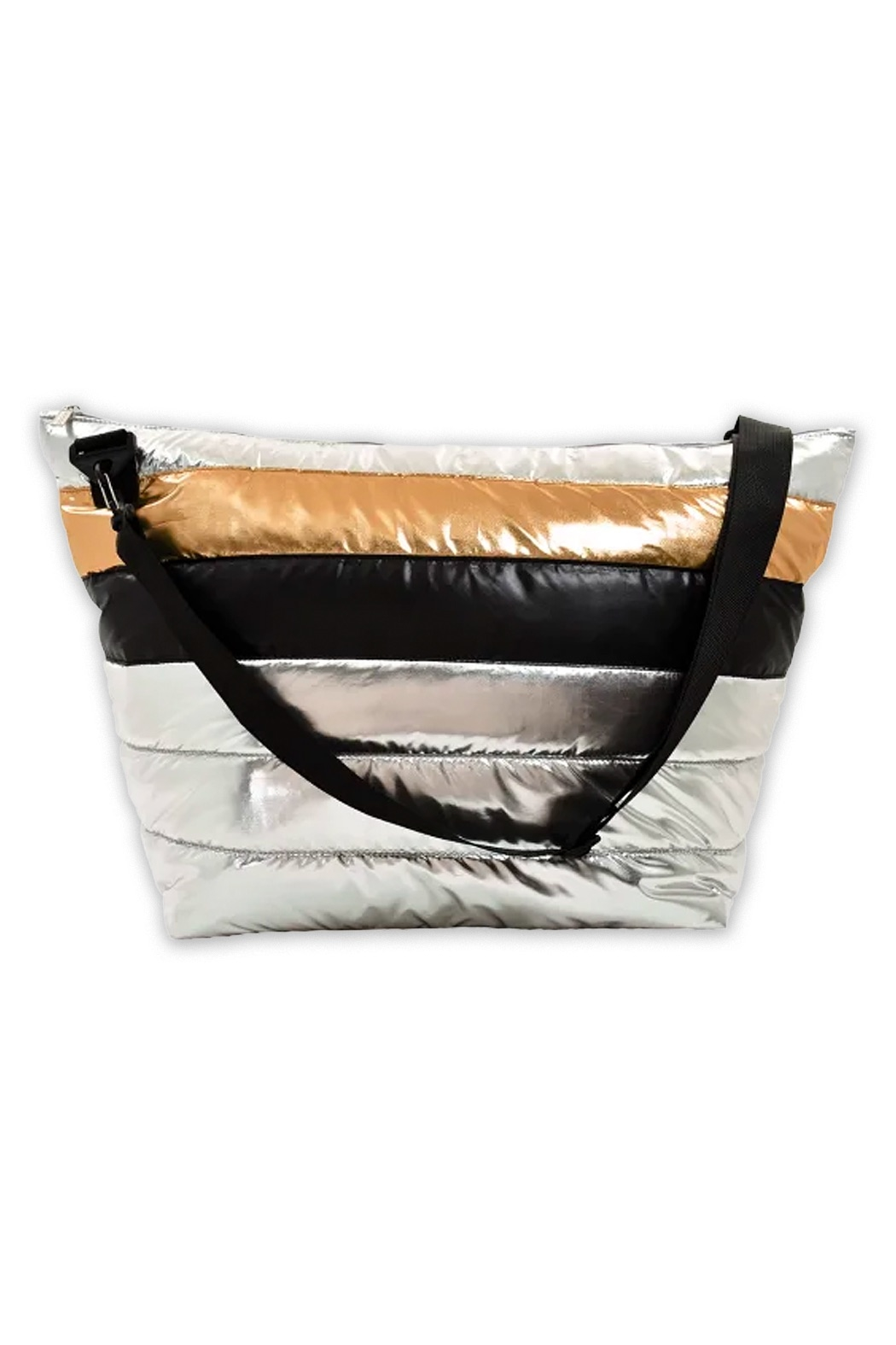 Iscream Mixed Metallic Weekender Bag - Main Image