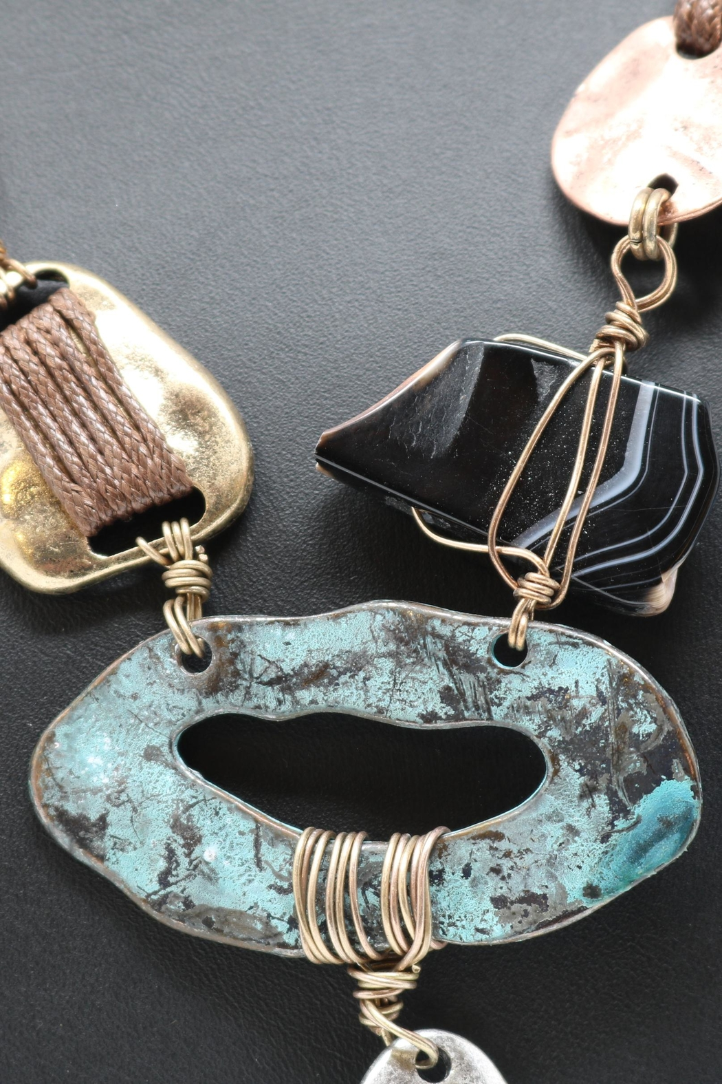 Nadya's Closet Mixed Metals Pendant-Necklace - Front Full Image