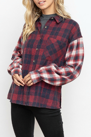 Hem & Thread Mixed plaid button down shirt - Product Mini Image