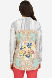 Tribal Mixed Print Button-Up - Back cropped