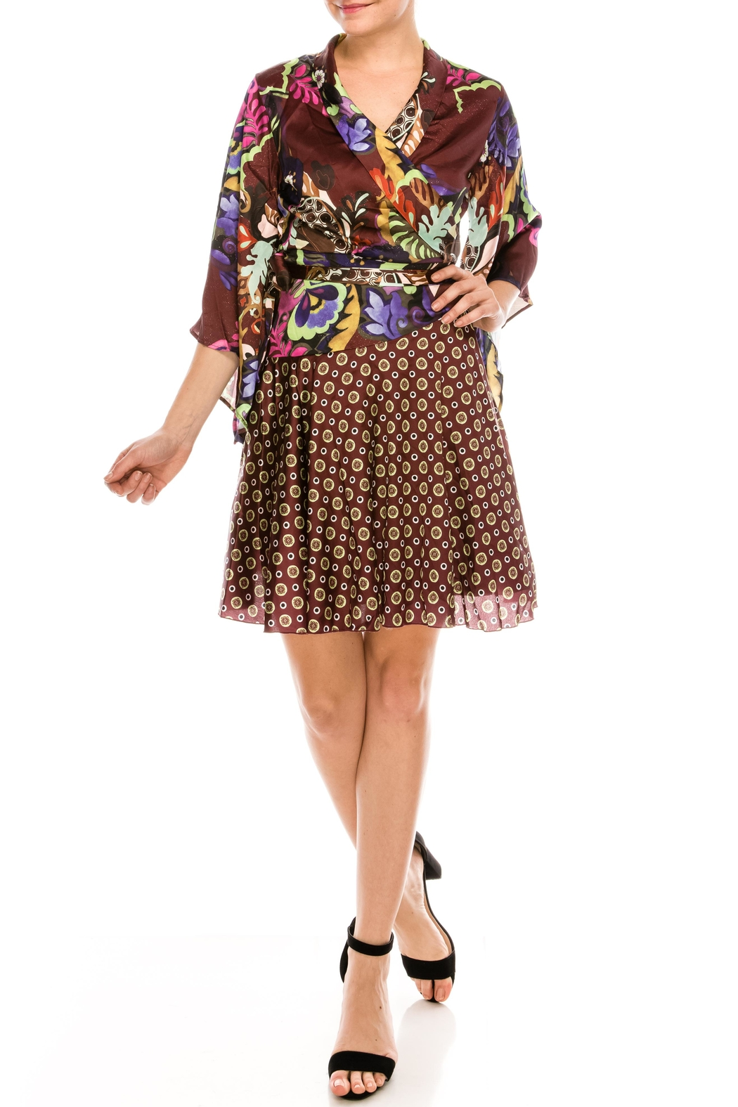 cq by cq Mixed Print Dress - Front Cropped Image