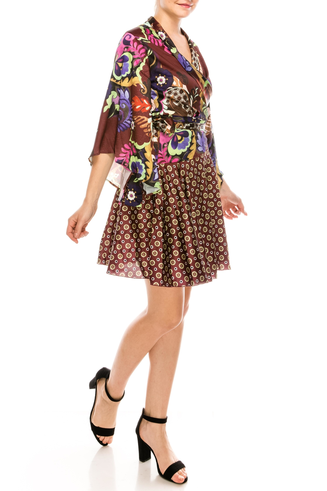 cq by cq Mixed Print Dress - Side Cropped Image
