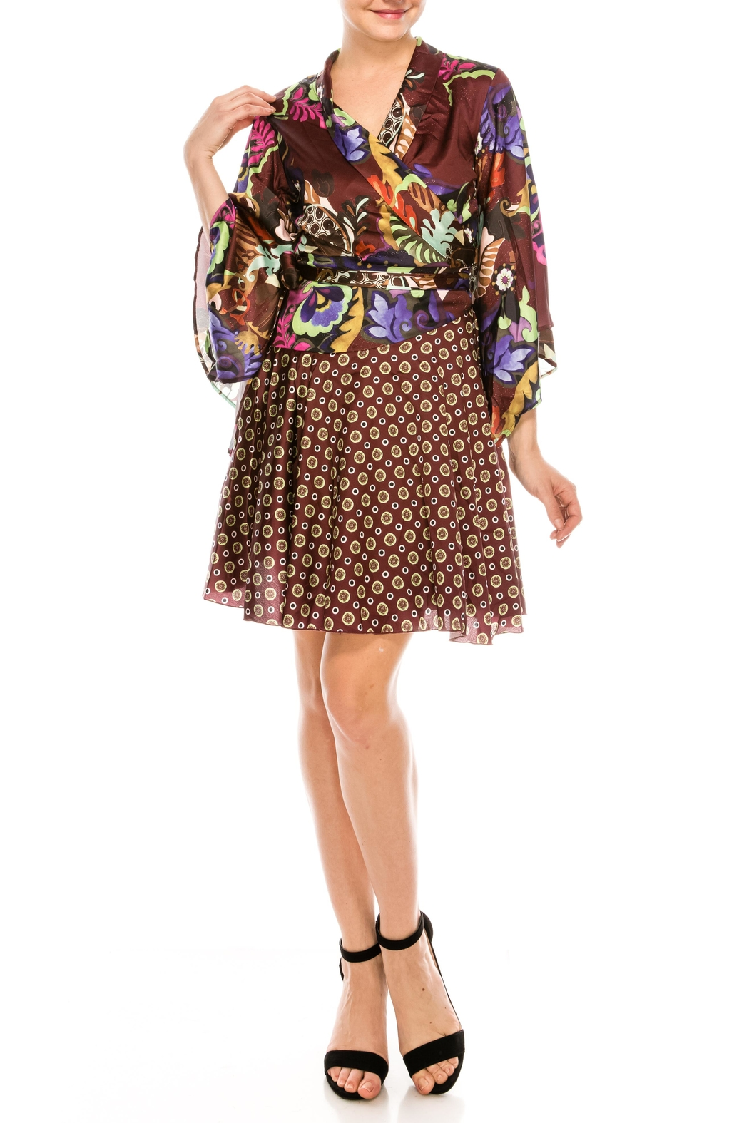 cq by cq Mixed Print Dress - Front Full Image