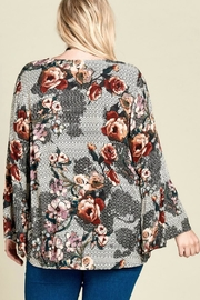 Oddi Mixed-Print Floral Top - Back cropped