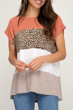 She + Sky Mixed Print Top - Product List Image