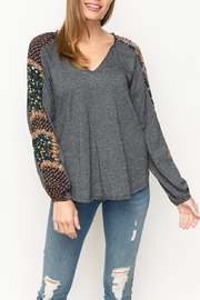 Mystree Mixed Print Top - Front cropped