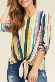 Staccato Mixed-Rainbow Striped Top - Product Mini Image