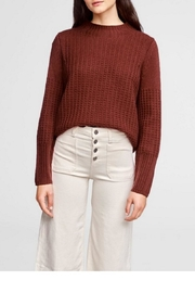 White + Warren Mixed Rib Standneck - Front cropped