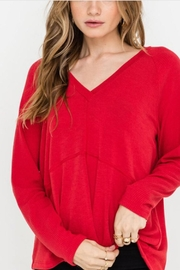 Lush Mixed-Ribbed L/s Top - Product Mini Image
